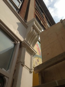Corbel on a theatre entrance